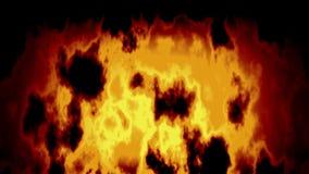 El centelleo animado manchó el fuego anaranjado video del lazo inconsútil del fondo en noche stock de ilustración
