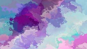 El centelleo animado manchó el vídeo inconsútil del lazo del fondo - azul turquesa violeta púrpura de la lavanda del efecto de la libre illustration