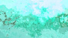 El centelleo animado manchó el vídeo inconsútil del lazo del fondo - efecto de la mancha de la acuarela - aguamarina, menta, turq