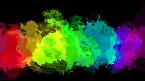 El centelleo animado manchó el vídeo inconsútil del lazo del fondo - efecto de la mancha de la acuarela - el arco iris a todo col libre illustration