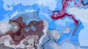 El centelleo animado manchó el vídeo inconsútil del lazo del fondo - efecto de la mancha de la acuarela - azul, de color de malva stock de ilustración