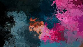 El centelleo animado manchó el vídeo inconsútil del lazo del fondo - efecto de la mancha de la acuarela - azul de océano negro, o libre illustration