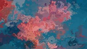 El centelleo animado manchó el vídeo inconsútil del lazo del fondo - efecto de la mancha de la acuarela - azul de océano y el col ilustración del vector