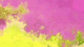 El centelleo animado manchó el vídeo inconsútil del lazo del fondo - efecto de la mancha de la acuarela - color amarillo del verd ilustración del vector