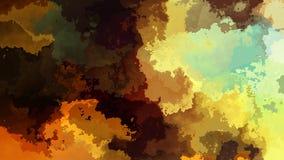 El centelleo animado manchó el vídeo inconsútil del lazo del fondo - efecto de la mancha de la acuarela - color azul anaranjado m stock de ilustración