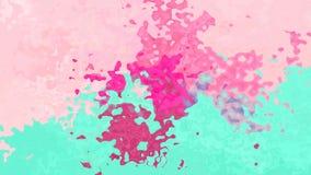 El centelleo animado manchó el vídeo inconsútil del lazo del fondo - efecto de la mancha de la acuarela - color de los rosas bebé ilustración del vector