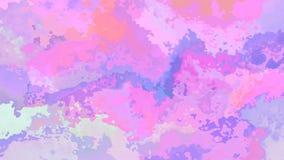 El centelleo animado manchó el vídeo inconsútil del lazo del fondo - efecto de la mancha de la acuarela - color olográfico lindo