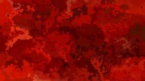 El centelleo animado manchó el vídeo inconsútil del lazo del fondo - efecto de la mancha de la acuarela - color rojo sangriento libre illustration