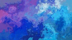 El centelleo animado manchó el vídeo inconsútil del lazo del fondo - efecto de la mancha de la acuarela - color violeta púrpura a ilustración del vector