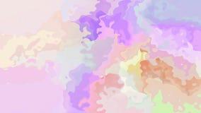 El centelleo animado manchó el vídeo inconsútil del lazo del fondo - efecto de la mancha de la acuarela - espectro a todo color d