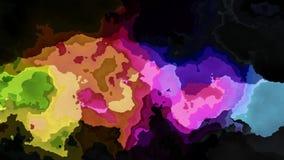 El centelleo animado manchó el vídeo inconsútil del lazo del fondo - efecto de la mancha de la acuarela - espectro a todo color d libre illustration