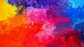 El centelleo animado manchó el vídeo inconsútil del lazo del fondo - efecto de la mancha de la acuarela - espectro a todo color d ilustración del vector