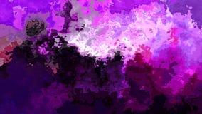 El centelleo animado manchó el vídeo inconsútil del lazo del fondo - efecto de la mancha de la acuarela - púrpura ilustración del vector