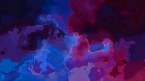 El centelleo animado manch? el v?deo incons?til del lazo del fondo - efecto de la mancha de la acuarela - p?rpura oscuro, azul, v stock de ilustración