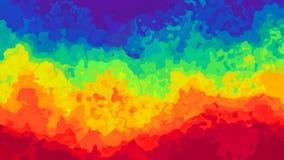 El centelleo animado manchó el vídeo inconsútil del lazo del fondo - efecto de la mancha de la acuarela - spectru a todo color de libre illustration