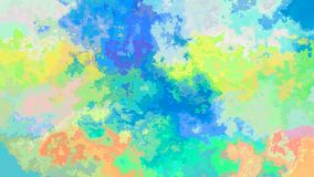 El centelleo animado manchó el vídeo inconsútil del lazo del fondo - espectro a todo color en colores pastel ligero del efecto de stock de ilustración