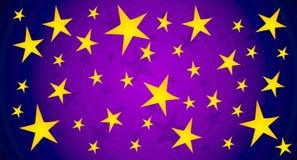 El centelleo Stars el fondo del cielo stock de ilustración
