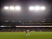 El centro campo adecuado Carlos Beltran de Giants se coloca en el waiti del campo abierto Imágenes de archivo libres de regalías