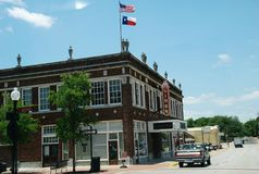 El centro de Barnhill en Simon Theatre histórico está considerando el 31 de julio de 2018 en Brenham céntrico, Tejas, los E.E.U.U imagen de archivo