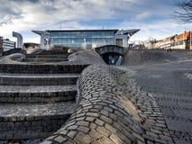 El centro de ciudad en Kiel, Alemania imagen de archivo