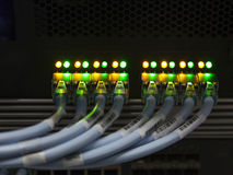 El centro de datos remienda luces Imagen de archivo libre de regalías