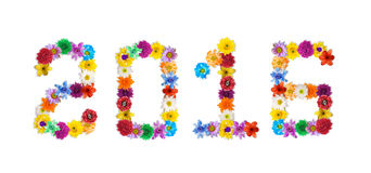 El centro de flores es el número 2016 Fotografía de archivo