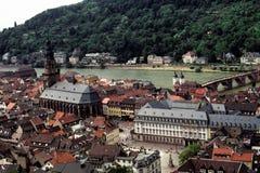 El centro de Heidelberg, Alemania Imagen de archivo