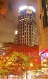 El centro de la empresa en la noche Fotos de archivo libres de regalías