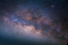 El centro de la galaxia de la vía láctea, fotografía larga de la exposición fotos de archivo libres de regalías