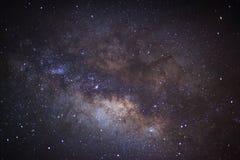 El centro de la galaxia de la vía láctea, fotografía larga de la exposición fotos de archivo