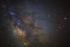El centro de la galaxia de la vía láctea en el phitsanulok en Tailandia largo Foto de archivo