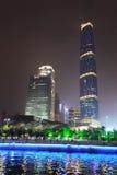 El centro de las finanzas internacionales de Guangzhou (GZIFC) Imágenes de archivo libres de regalías