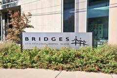El centro de los puentes, Memphis TN fotografía de archivo