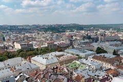 El centro de Lviv Foto de archivo