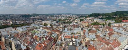 El centro de Lviv Foto de archivo libre de regalías