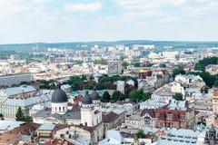 El centro de Lviv Imagen de archivo libre de regalías