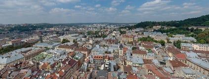El centro de Lviv Imagen de archivo