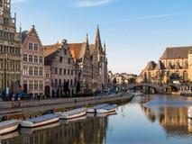 El centro histórico de Gante, Bélgica Fotografía de archivo libre de regalías