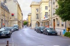 El centro histórico de la ciudad de Reims Fotos de archivo libres de regalías
