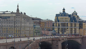 El centro histórico de Moscú enfrente del cuadrado rojo Imagen de archivo