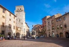 El centro histórico de San Gimignano imágenes de archivo libres de regalías