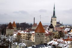 El centro hist?rico de Tallinn foto de archivo