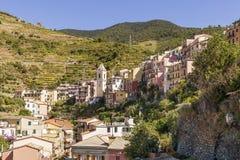 El centro histórico hermoso y colorido de Manarola, Cinque Terre, Liguria, Italia foto de archivo libre de regalías