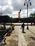 El centro Merida. Mexico downtown statue Royalty Free Stock Photo