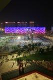 El centro nacional de Aquatics en Pekín Fotos de archivo libres de regalías