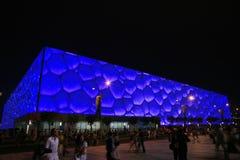 El centro nacional de Aquatics en Pekín Fotos de archivo