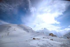 El centro turístico de esquí del montaje Fotografía de archivo