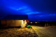 El centro turístico en la noche Imagen de archivo libre de regalías