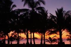 El centro turístico en la puesta del sol Imágenes de archivo libres de regalías