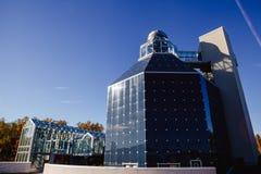 El centro y el planetario de la ciencia foto de archivo